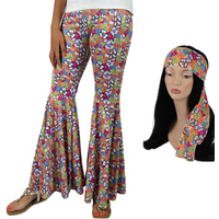 Pants - Hippie Bellbottoms with matching Headband -  Floral