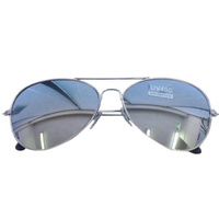 Glasses - Silver Mirror Aviator Sunnies