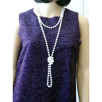 Beads Flapper - Pearl 183Cm