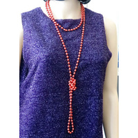 Beads Flapper - Red 183Cm