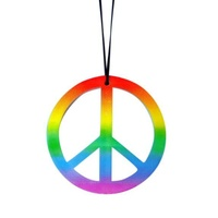 Necklace - Rainbow Peace Sign