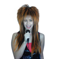 Wig - Spiky Vamp(Orange/Black)
