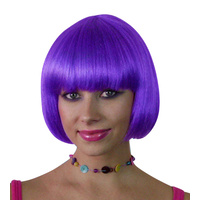 Wig- Purple Short Bob - Deluxe