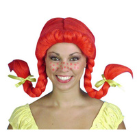 Wig - Pippi Longstocking - Red