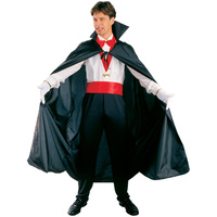 Adult Costume - Adult Black Dracula Cape Poly