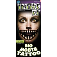 BIG MOUTH CHESHIRE TEMP TATTOO