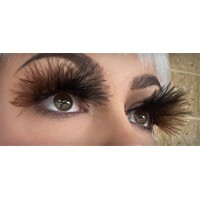 Eyelash - Black/Brown Fluffy