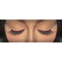 Eyelash - Black W/Brown Glitter Trim