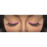 Eyelash - Black W/Magenta Sequin