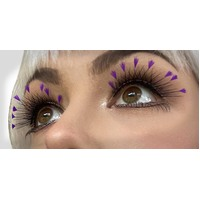Eyelash - Blackw/Purple Feather Tips