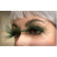 Eyelash - Floating Feathers Dk Green