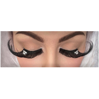 Eyelash - Jumbo Black W/Crystals