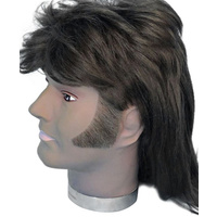 Sideburns - Thick Curved Brown