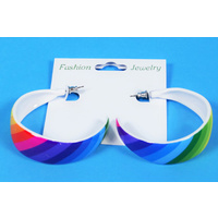 Ear Rings - Rainbow Hoop Large