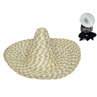 Mexican Sombrero Hat Plain - Straw