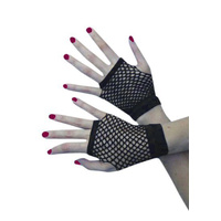 Gloves -Short Fishnet Black