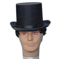 Hat-Tall Top Hat Eva 14.5Cm Satin-Black