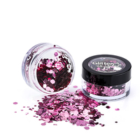 Metallic Chunky Glitter Pot - Metallic Pink