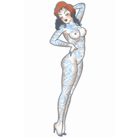 Tattooed Girl - Pin Up