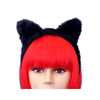 Headband - Cat Ears On Headband (A) Black