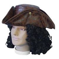 Hat- Pirate Tricorn - Brown
