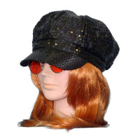 Hat- Go Go Cap - Black Sequin (A)