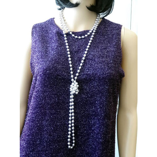 Beads Flapper - Silver 183Cm