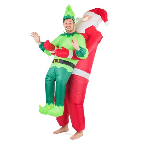 Adults inflatable Santa & Elf Costume