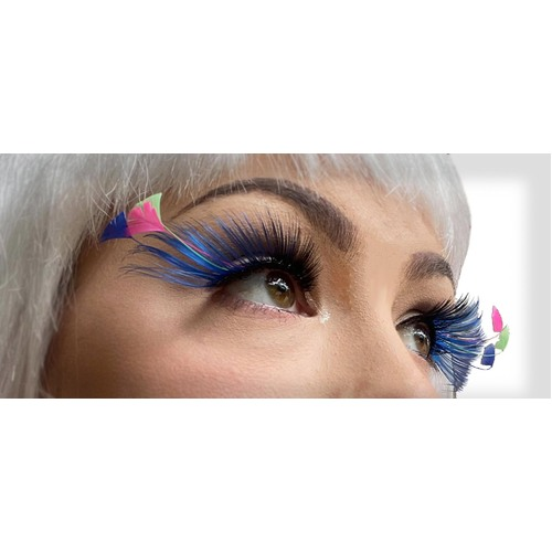 Eyelash - Feather Tip Black/Blue
